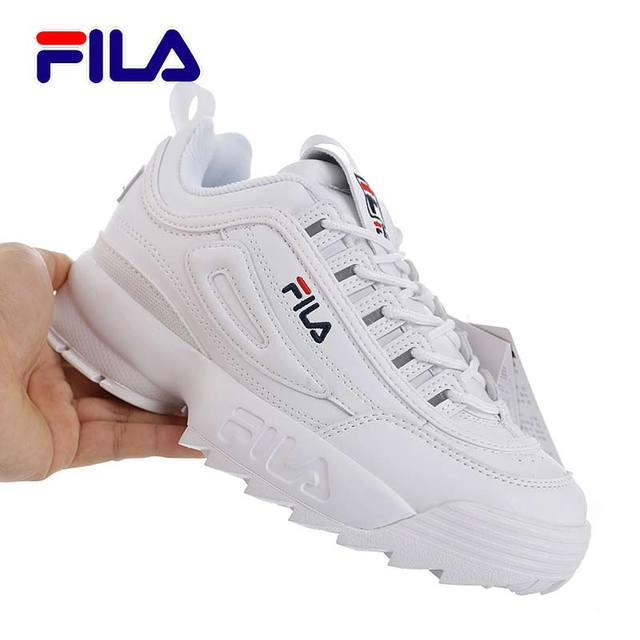 4a49ced5ace6 FILA Disruptor II 2 Women Red Yellow Running Shoes 2019 Hot Sale Female  Summer High Increased