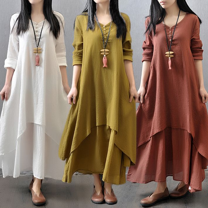 Envsoll 2017 Pregnant Dress Two-pieces Pregnancy Long Skirt Dress Long-sleeves Cotton Maternity Clothes For Pregnant Women sexy women peasant ethnic boho cotton linen long sleeve maxi dress gypsy dresses