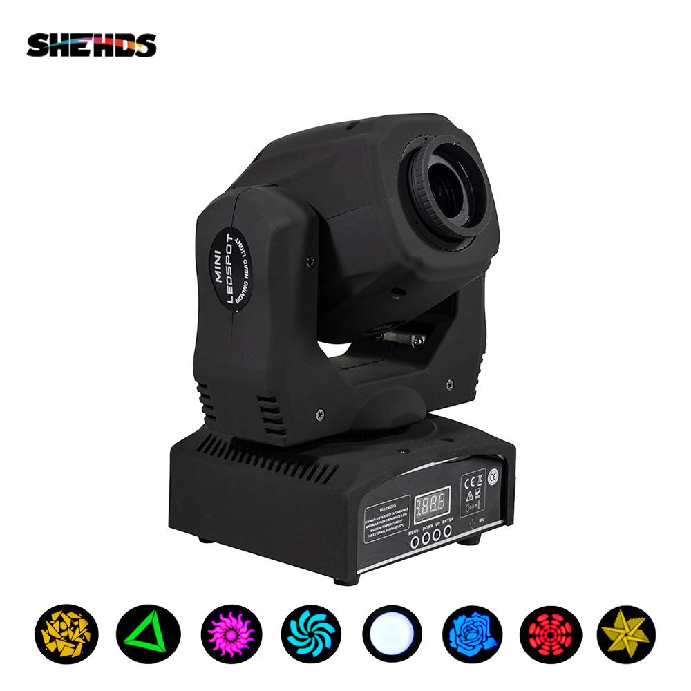 SHESDS High Quality 60W LED DMX/Sound Controller 7 Gobos Light DJ Club Stage Lighting Party Disco Effect Sopt Moving Head Lamp