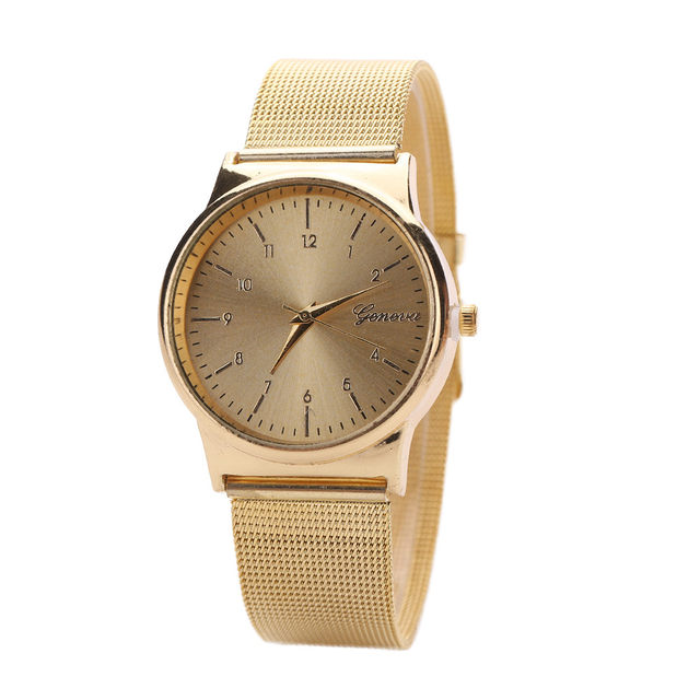 32ed9c43670 Online Shop Geneva Watch Womens Rose Gold Watches Reloj Mujer Clock ...