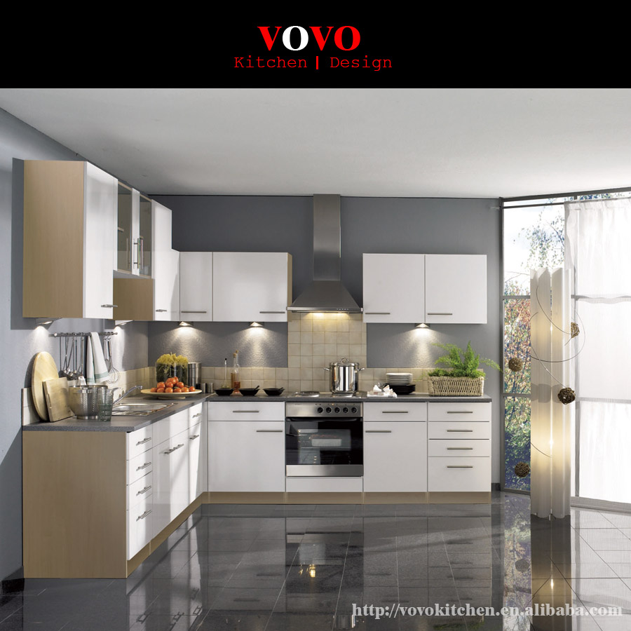 US $2450.0 |L shaped kitchen design made in Foshan China-in Kitchen  Cabinets from Home Improvement on AliExpress