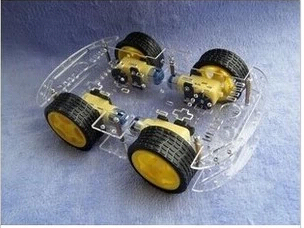 Бесплатная доставка Наборы для arduino 4WD Смарт Робот Автомобилей Шасси с Датчиком Скорости Новый