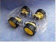 Бесплатная доставка, комплекты шасси для умных роботов 4WD с датчиком скорости, новинка