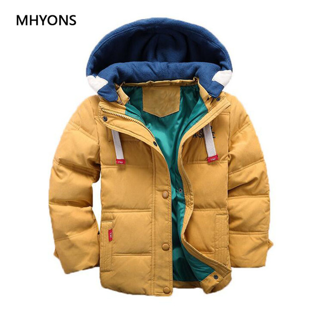 Flash Sale Boys Winter Jacket Kids Cotton Snowsuit Coats Children Thicken Warm White Duck Down Kids Girl Coat Baby Detachable Cap Outerwear