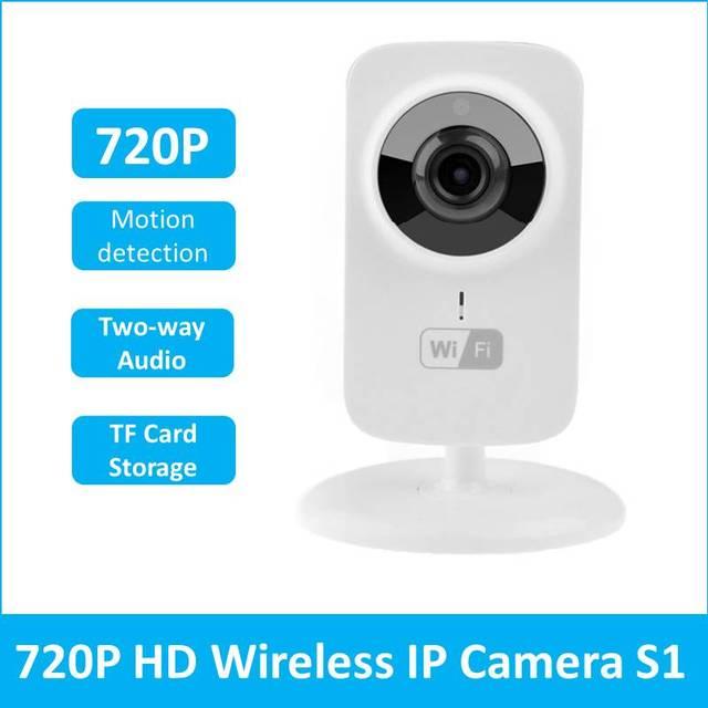 Mini Cámara IP Wifi 720 P HD P2P Inteligente CCTV Cámara De La Moda bebé Monitor de Seguridad Para el Hogar Sistema de Grabadora de Vídeo IP kamera V380 S1