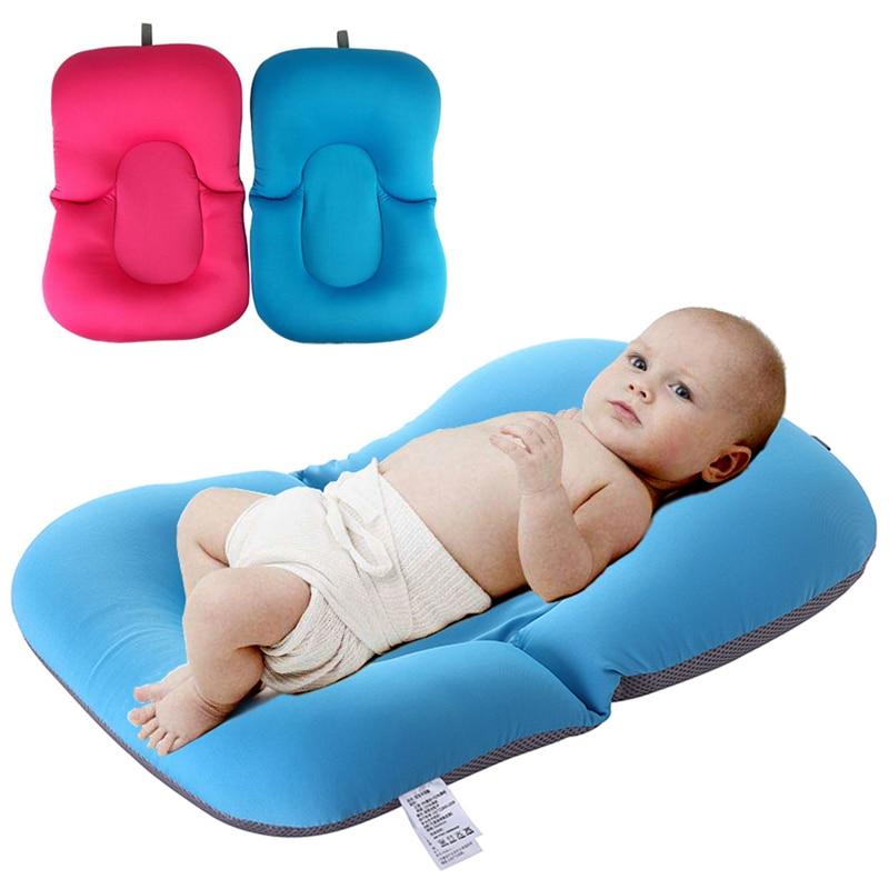 High Quality Anti-skid Baby Bathing Mat Baby Bathtub Shower Cushion Non-Slip Security Soft Baby Bath Pad Newborn Seat Bath