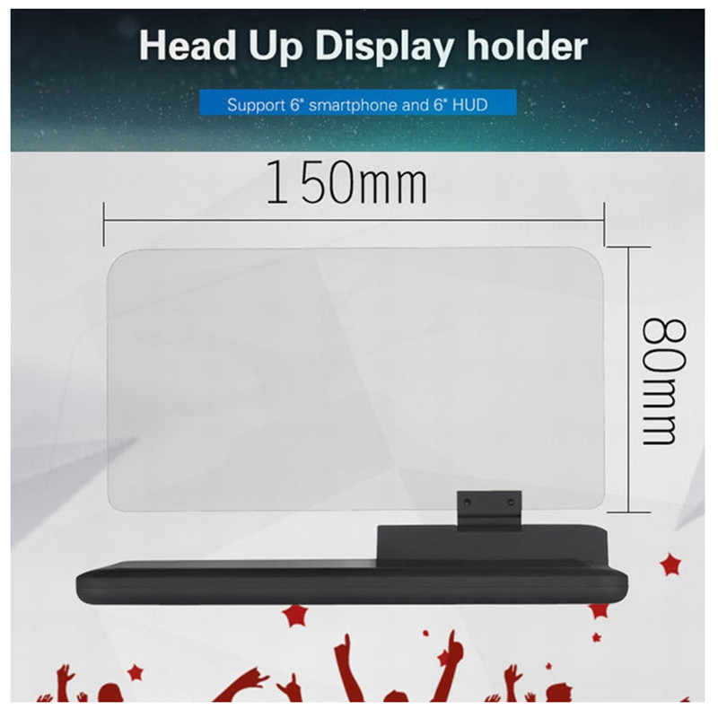 Image 3 - GEYIREN 6 inch Universal H6 Car HUD Head Up Display Projector Phone Navigation Smartphone Holder gps hud for any cars-in Head-up Display from Automobiles & Motorcycles