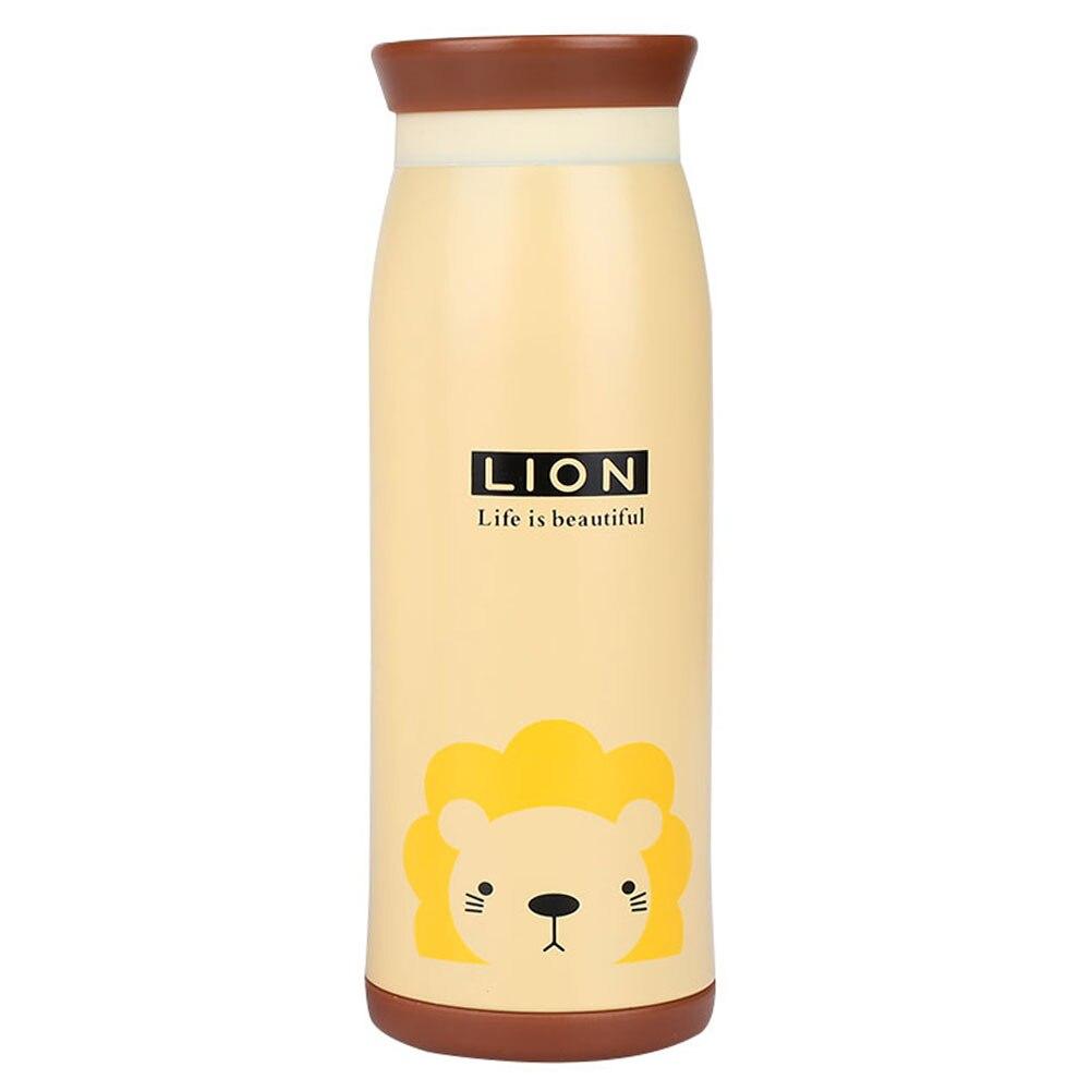 Изоляционная кружка вакуумная кружка чайная кружка с животным узором 500 мл креативная Термочашка Мультяшные пищевые контейнеры - Цвет: Lion