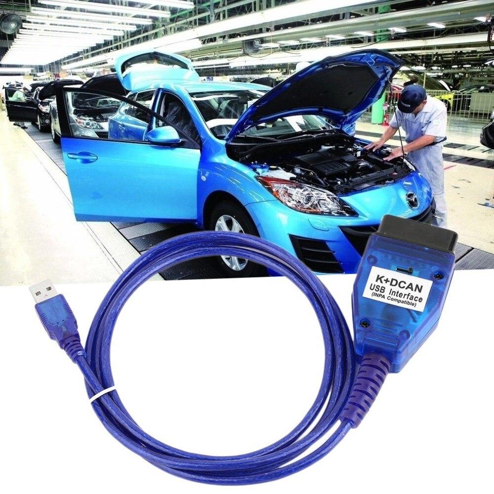 Pratique K + DCAN USB Interface Puce Lecteur de Numérisation Câble De Diagnostic Pour BMW Commuté ROYAUME-UNI INPA DIS SSS NCS Codage + 20pin