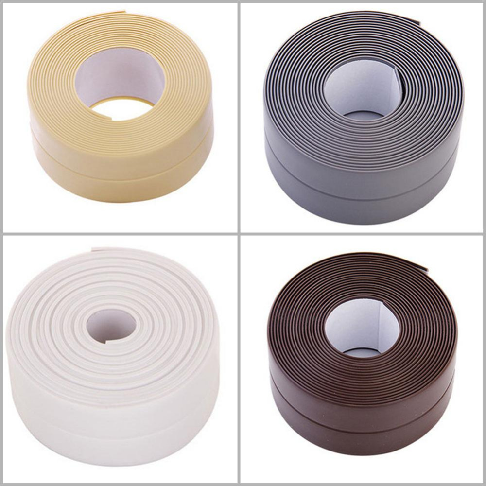 Kitchen Bath Wall PVC Sealing Strip Self Adhesive Sink Edge Tape Mildew Resistant Waterproof Moisture-proof Sealing Strips