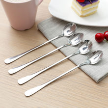1 Pcs Long Handled Stainless Steel Coffee Spoon Ice Cream Dessert Tea Spoon For Picnic Kitchen Accessories(China)