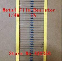 Free Shipping   100pcs/lot  0.25W  Metal Film Resistor  +-1% 4.7K ohm  4K7 1/4W