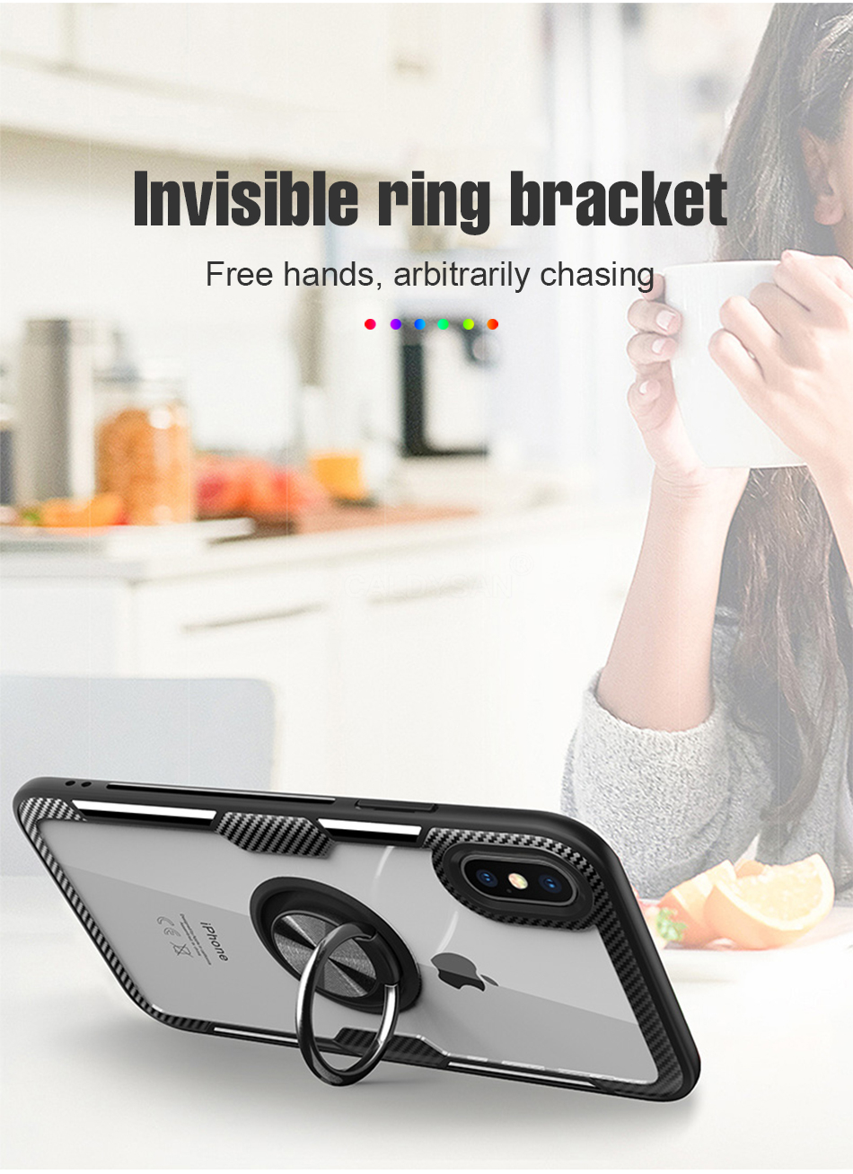 Luxury Bumper Case And Car Holder Ring Case For IPhone XS Max XR X 5