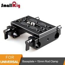 SmallRig Tripé de Câmera Placa De Base de Montagem com 15mm Rod Grampo Railblock para Apoio Rod/Dslr Rig Gaiola-1775
