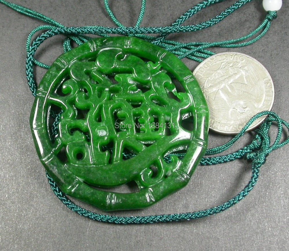Chinese green jade pendant bamboo zhao cai jin bao meaning money chinese green jade pendant bamboo zhao cai jin bao meaning money coming 236430 in pendants from jewelry accessories on aliexpress alibaba group mozeypictures Images