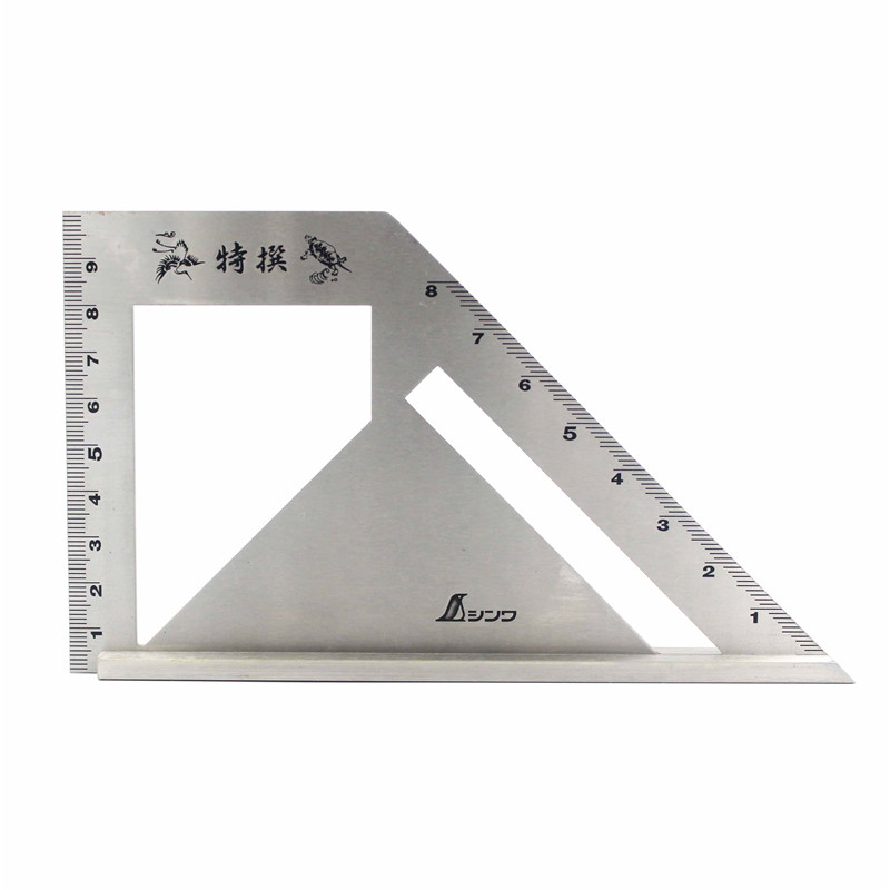 SHINWA Multi-Function Woodworking Square 45 degree 90 degree line angle Ruler Stop Type regulation Gauges