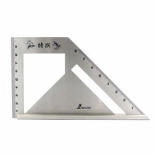 SHINWA Multi-Function Woodworking Square 45 degree 90 degree line angle Ruler Stop Type regulation Gauges