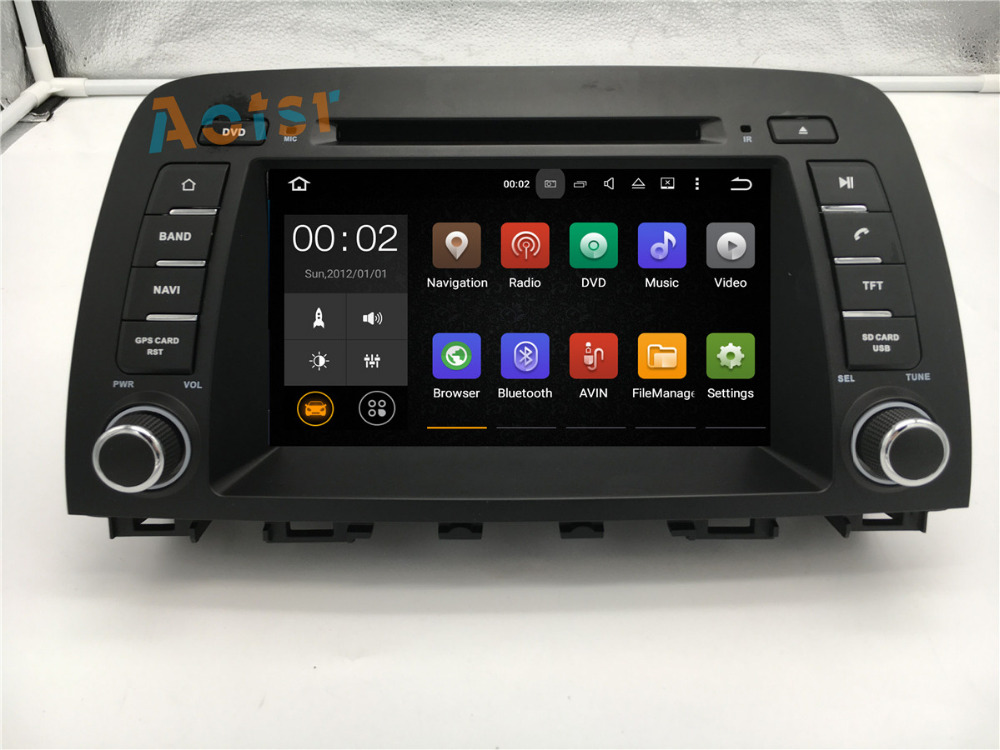 8Android 7.1 GPS Navigation Car DVD Player Auto Stereo Radio Headunit For MAZDA ATENZA 2013 2014 2015 2016 2017 1080P HD Video
