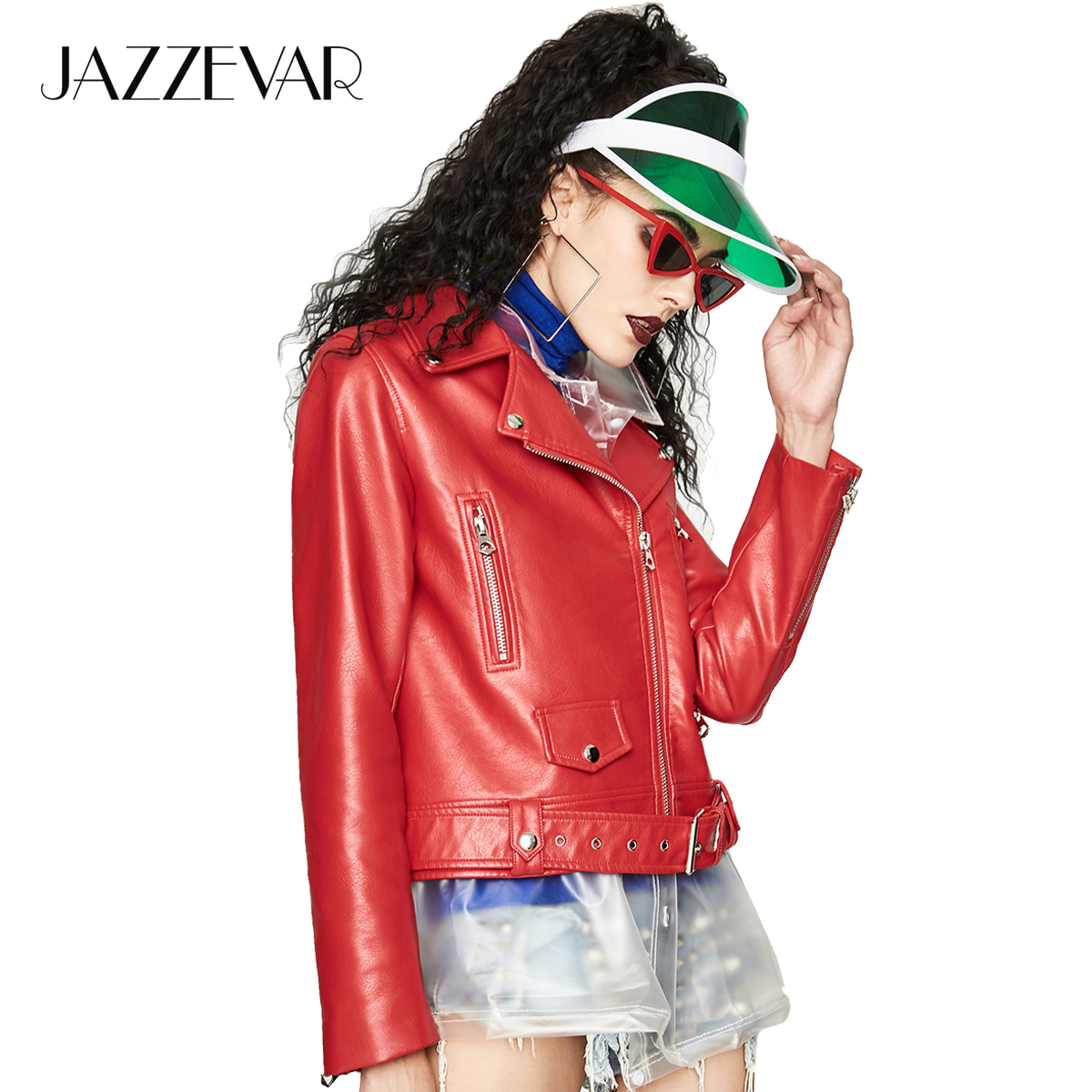 JAZZEVAR 2019 Autumn New Fashion Street Women s Washed PU Leather Jacket Short Zipper Ladies Basic