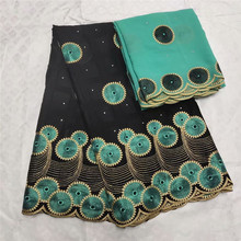 Dubai Premium Fabric High Quality 100% Cotton Lace Swiss Voile With Stones In Switzerland dress ly7-50