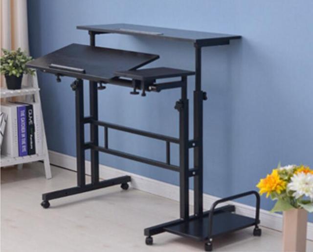 Two layer Standing Multipurpose Laptop desk Mobile office desks -in ...