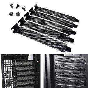 Image 2 - Neue Ankunft 5Pcs Metall Wärmeableitung Computer PCI Slot Abdeckung Staub Filter Stanzen Platte