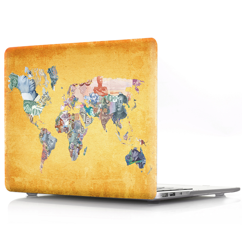 New For Macbook Air Pro Retina 11 12 13 15 Cover Hard PVC Color World Map A1466 Hard PC Coque for Macbook Pro 13 A1989 2018 Case (8)