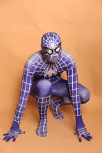 High Quality Mens Adult Childrens Halloween Spiderman Cosplay Costumes Lycra Zentai Superhero Costume Party Jumpsuits