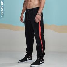 Aimpact 2018 nowy na co dzień Jogger spodnie męskie aktywny elastyczny miejskich Biker spodnie męskie bawełniane sznurek spodnie dresowe męskie śledzić spodnie AM5003