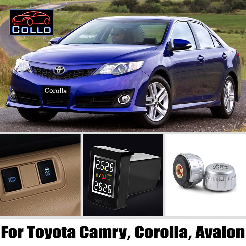 Special For TOYOTA Camry Corolla Avalon / TPMS Wireless Tire Pressure Monitoring System Of External Sensors / DIY Install