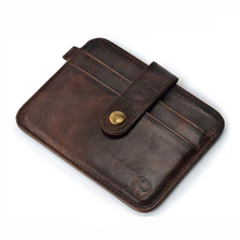 2016 Mens Genuine Leather Cards and ID Holders Cowhide Credit Cards Holder Case carteira masculina portafoglio uomo wallet purse