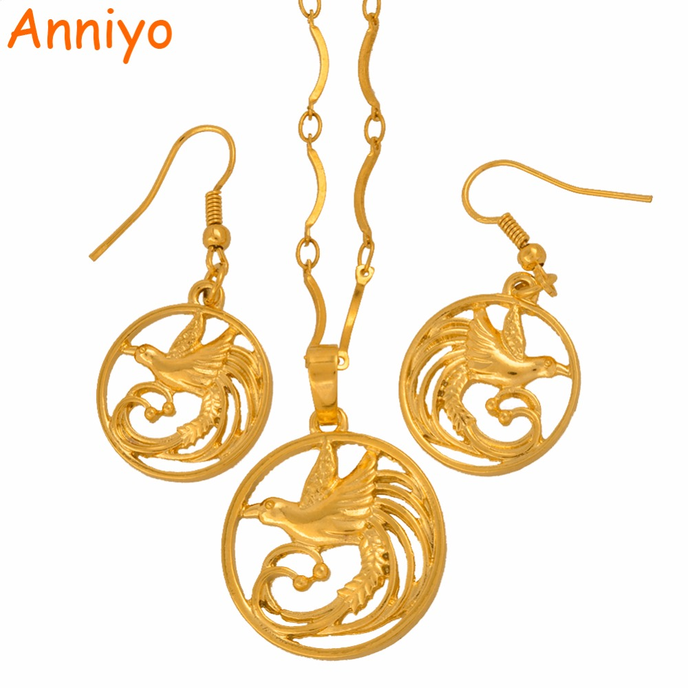 Anniyo Singing Bird Pendant Necklaces and Earrings sets of Papua New Guinea Jewellery PNG Wedding Gifts #107606