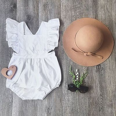Fashion Girl Summer Newborn Infant Baby Girl Ruffled  Sleeve Cute Bebes Jumpsuit Kids Sunsuit Clothes One Pieces Clothing Set cute newborn baby girls clothes floral infant bebes romper cotton jumpsuit one pieces outfit sunsuit 0 18m