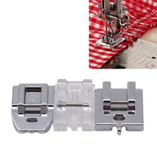 2018 New Creative Sliver Rolled Hem Curling Presser Foot For Sewing Machine Singer Accessories Hot Sale Sewing Tools(China)