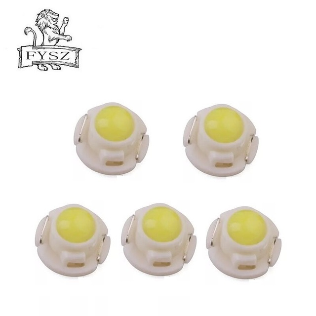 5Pcs T4.7 Led Instrument Bulb Wedge Auto Dashboard Cluster Light Car Panel Gauge Dash Lamp