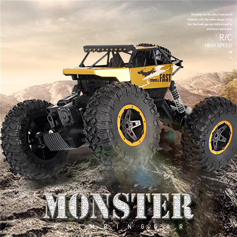 15KM/h ourtdoor Off-Road <font><b>RC</b></font> Climbing Car Alloy High Speed Monsters Truck Remote control off-road big foot climbing car#SA image