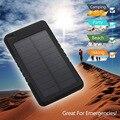 Banco de Energia Solar portátil 5000 MAH bateria externa portatil Powerbank Backup Externo USB Carregador de Bateria Do Telefone Móvel para o telefone