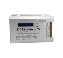 Input AC100-240V Neon Flex LED Strip DMX decoder with XLR3 and RJ45 AC110V AC220V LED Neon Light DMX512 controller Max 2016 best price 1 pcs 27ch channel with rj45 9 group max 3a dmx512 led decoder controller for led module strip