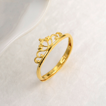 XXX 24K Pure Gold Ring Real AU 999 Solid Gold Rings Good Crown Beautiful Upscale Trendy Classic Party Fine Jewelry Hot Sell New 5