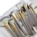 Operacosmetics 18 unids de Cepillo Del Maquillaje Sintético Cepillo Cosméticos de Maquillaje Profesional Fundación Powder Blush Delineador de ojos Cepillos