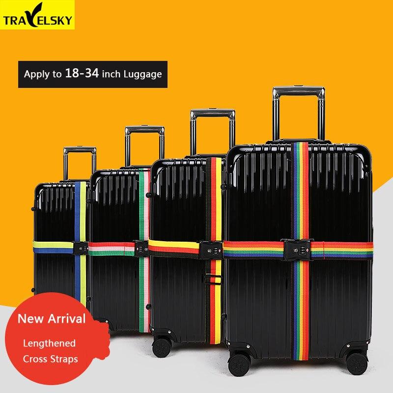 Travelsky New TSA Voyage Bagage Strap Réglable Valise Allongée - Accessoires de voyage