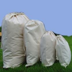 Wholesale w20 x h30cm natural cotton canvas drawstring bags cloth bag rice bag shoes bag cutom.jpg 250x250