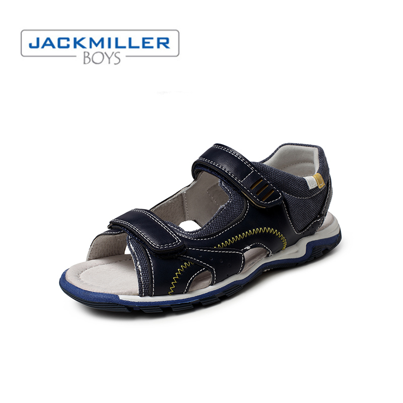 Jackmiller 2019 kids sandals boys casual flat comfortable outsole beach shoes children sandals kids summer black navy size 31 36 in Sandals from Mother Kids