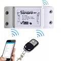 Itead sonoff rf controle remoto inteligente 433 mhz dc220v/10a interruptor interruptor wifi módulo para luz casa inteligente inteligente