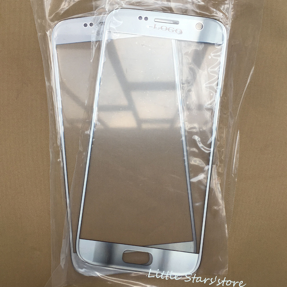 5PCS Silver Original For Samsung Galaxy S7 G930 G930F G930A G930T G930V Front Screen Outer Glass