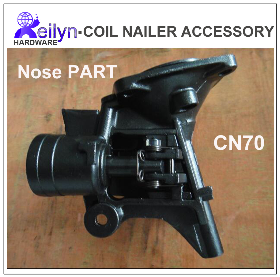 CN70 Nose part  nuzzle spare parts for Nail Gun CN70 accessory for Coil Nailer Max, Bostitch, Senco, Meite coil nailer cn70 coil nail guns air gun