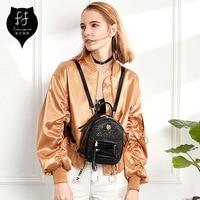 FULANPERS Women Mini Glitter Backpack Female Small Leather Black Bag Stylish Back Pack Backpacks For Teenagers