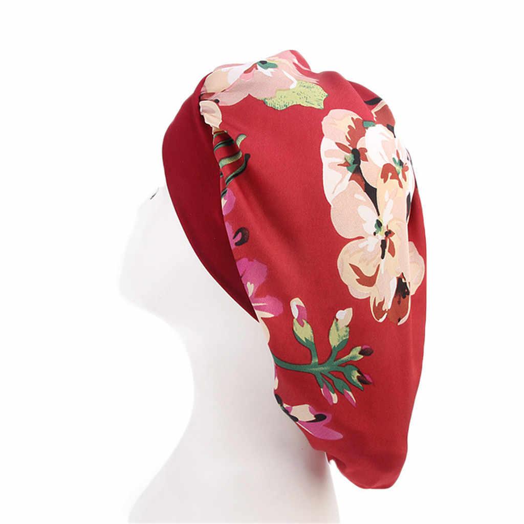 2019 nouvelle offre spéciale longue soins des cheveux femmes mode Satin Bonnet Cap nuit sommeil chapeau soie Cap tête Wrap haute qualité cadeau