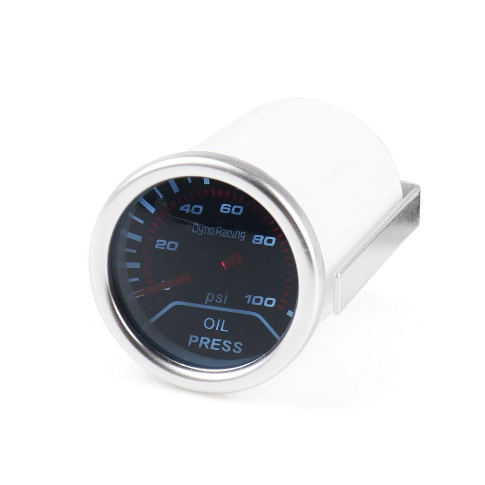 """Dynoracing автоматический датчик давления масла """" 52 мм Датчик давления масла 0-100 фунтов/кв. дюйм отображение автомобильный измеритель BX101230"""