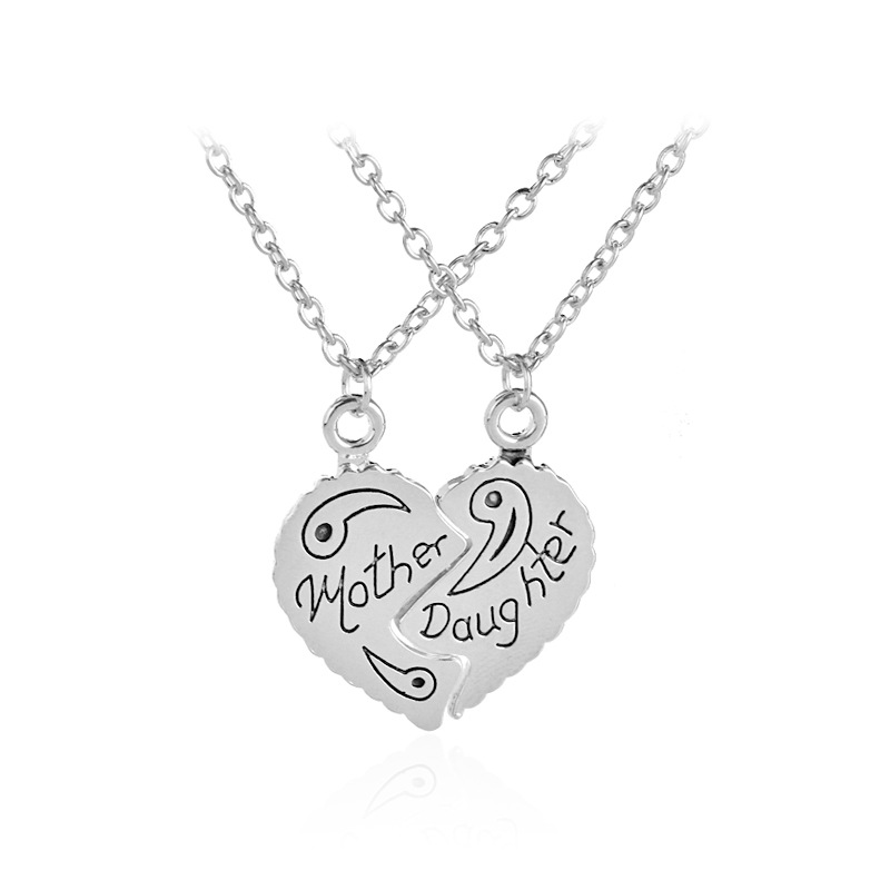 Ly Queen 2pcs Set Family Jewelry Mother Daughter Symbol Lettering